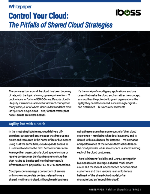 Not All Clouds Are Created Equal: Strategies For Controlling Your Cloud