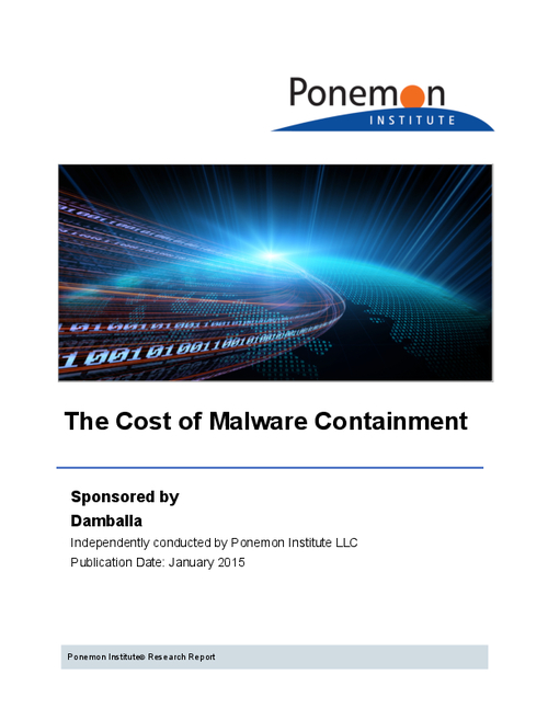 The Cost of Malware Containment