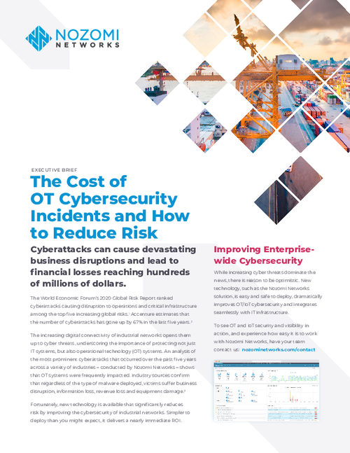 The Cost of OT Cybersecurity Incidents and How to Reduce Risk
