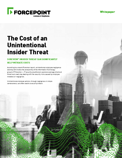 The Cost of an Unintentional Insider Threat