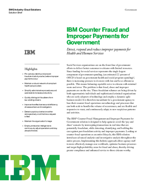 Counter Fraud and Improper Payments for Government