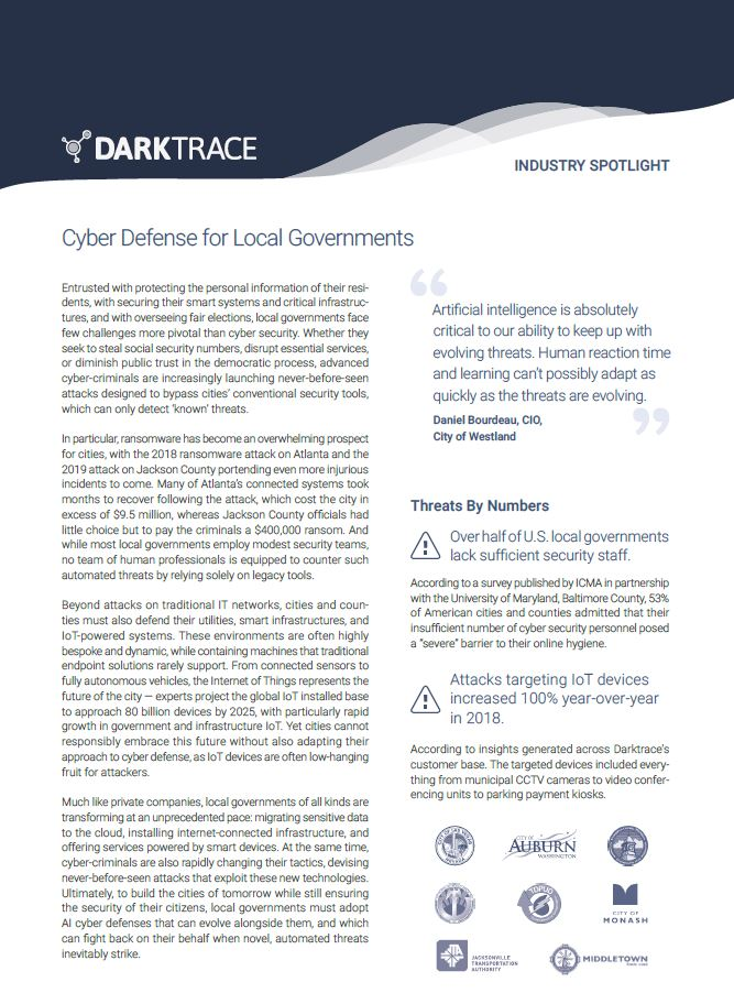 Cyber Defense for Local and State Governments