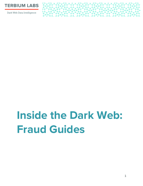 Cyber Fraud for Dummies: How-to Guides for Sale on Dark Web