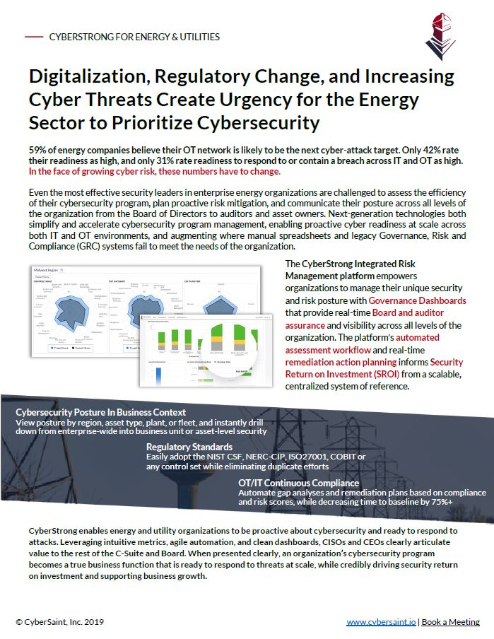 Cyber Threats Create Urgency for the Energy Sector