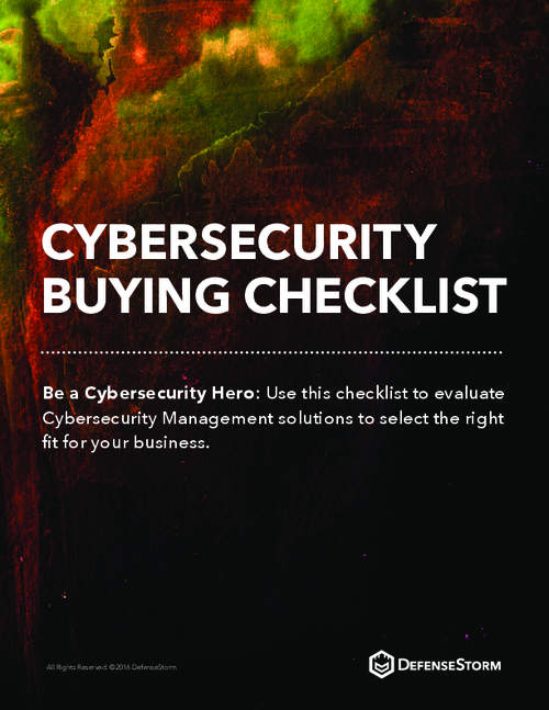 Cybersecurity Buying Checklist