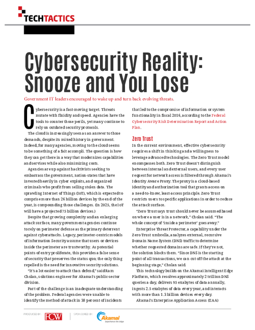 Cybersecurity Reality: Snooze and You Lose