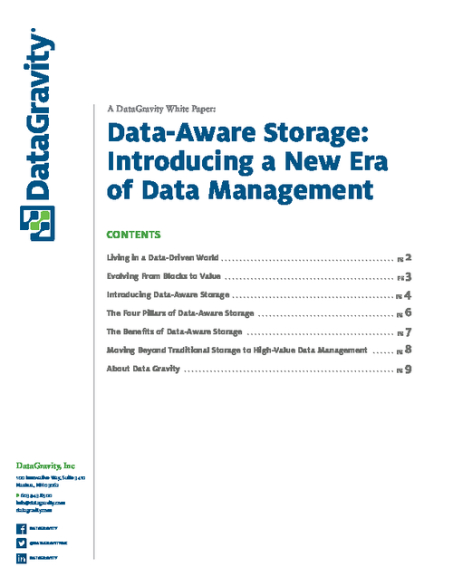 Data-Aware Storage: Introducing a New Era of Data Management
