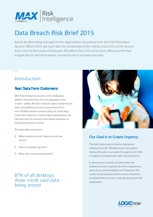 Data Breach Risk Intelligence for CISOs