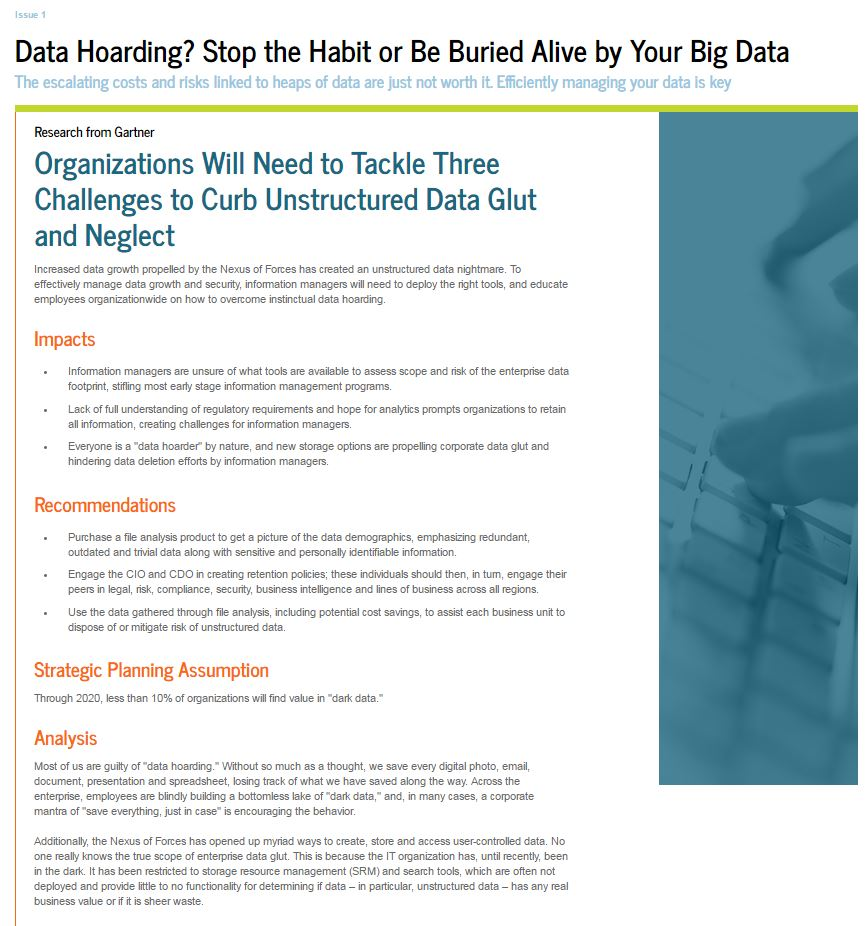 Data Hoarding? Stop the Habit or be Buried Alive by your Big Data