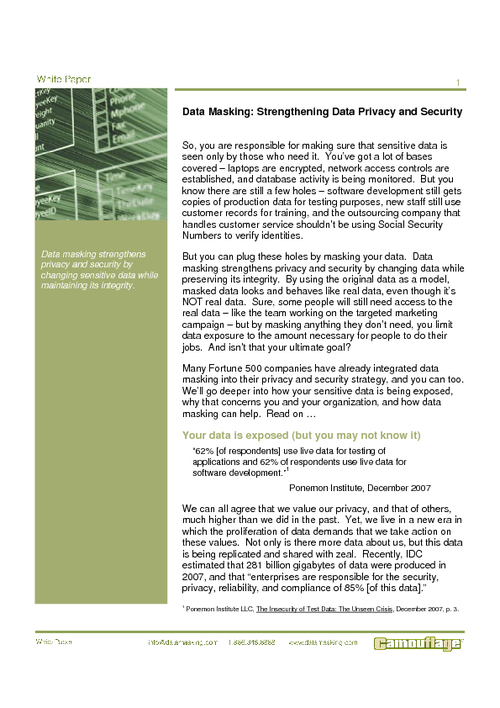 Data Masking - Strengthening Data Privacy & Security for Banking Institutions