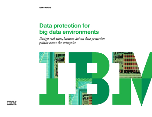 Data protection for big data environments