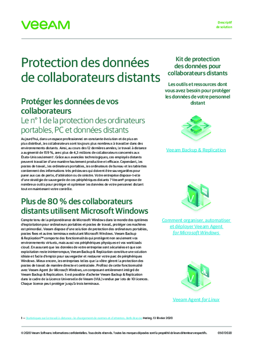 Data Protection of Remote Collaborators (French Language)