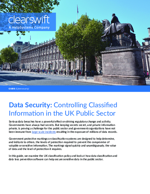 Data Security: Controlling Classified Information in the UK Public Sector