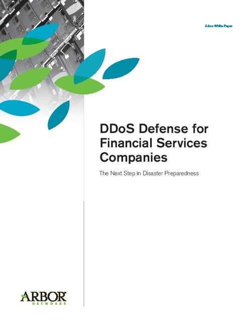 DDoS Defense for Financial Services Companies