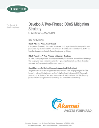 DDoS Mitigation Strategy: A Two-Phased Defense