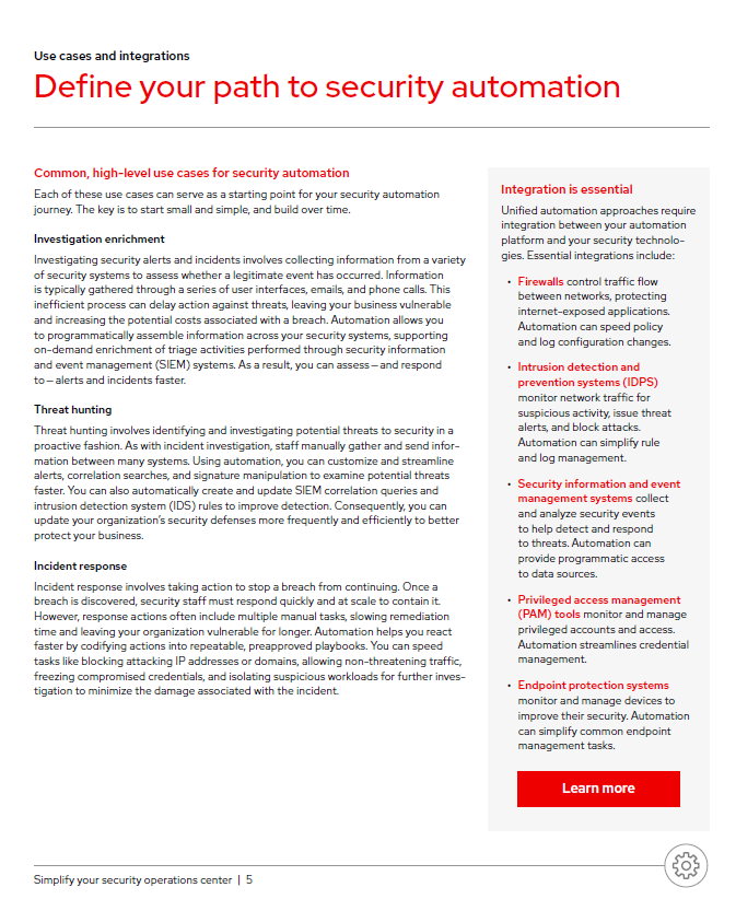 Define your Path to Security Automation