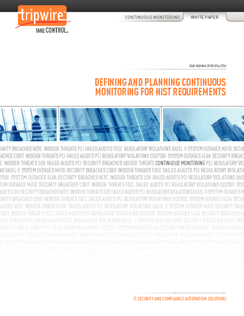 Defining and Planning Continuous Monitoring for NIST Requirements