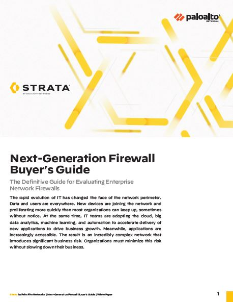 The Definitive Buyer's Guide: Next Generation Firewall