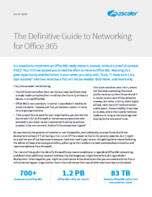 The Definitive Guide to Networking for Office 365