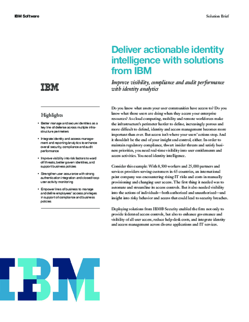 Deliver Actionable Identity Intelligence