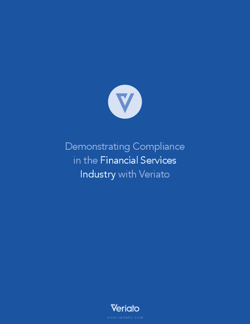 Demonstrating Compliance in the Financial Services Industry
