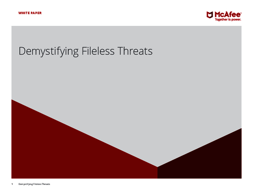 Demystifying Fileless Threats