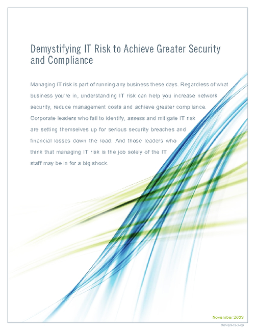 Demystifying IT Risk to Achieve Greater Security and Compliance