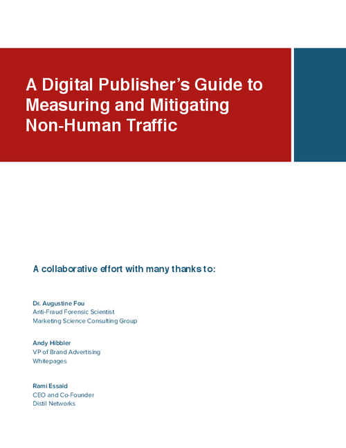 A Digital Publisher's Guide to Measuring and Mitigating Bot Traffic