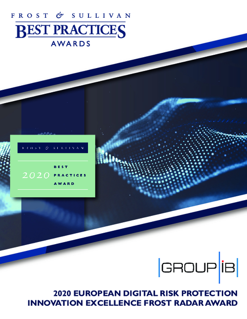 Digital Risk Protection. Frost Radar™ Innovation Excellence Award