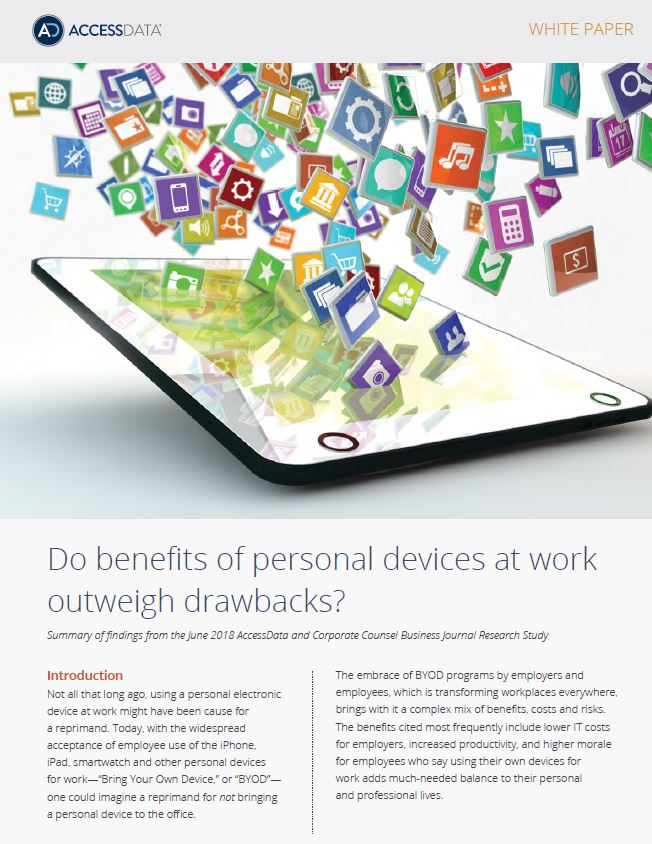Do the Benefits of Personal Devices at Work Outweigh the Drawbacks?