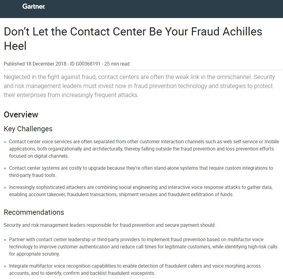 Don't Let the Contact Center Be Your Fraud Achilles Heel
