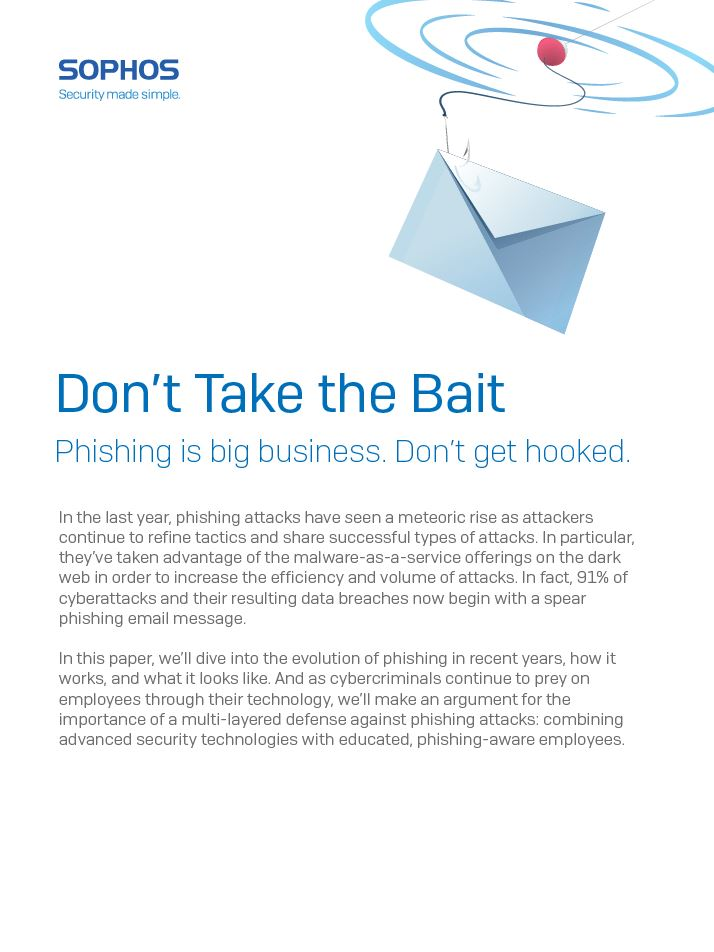 Don't Take the Bait: Phishing is Big Business. Don't Get Hooked.