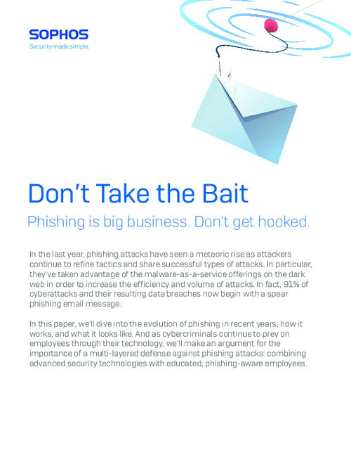 Don't Take the Bait: Phishing is Big Business; Don't Get Hooked.