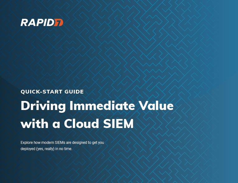 Driving Immediate Value with a Cloud SIEM