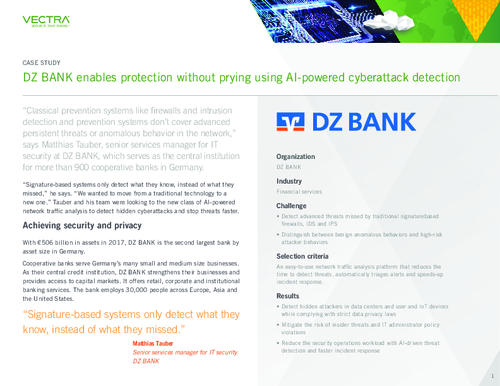DZ BANK Enables Protection Without Prying Using AI-Powered Cyberattack Detection