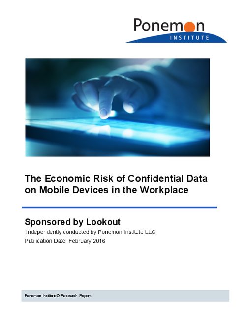 The Economic Risk Of Confidential Data On Mobile Devices In The Workplace