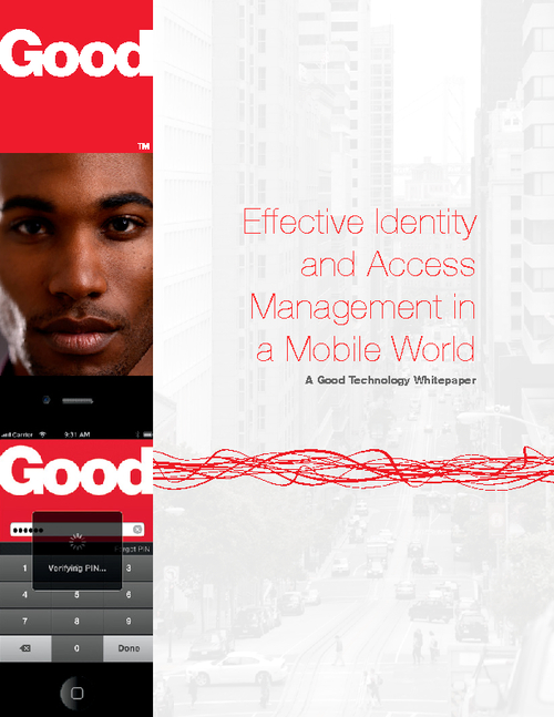 Effective Identity and Access Management in a Mobile World