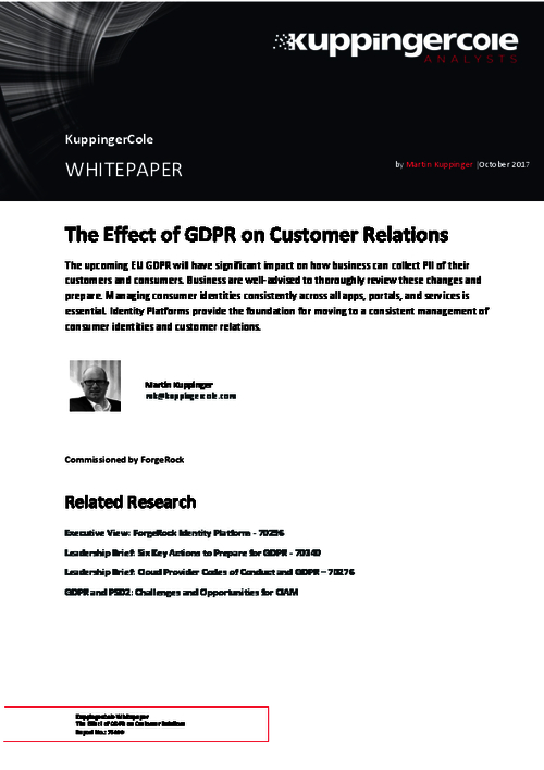 The Effects of GDPR on Customer Relations