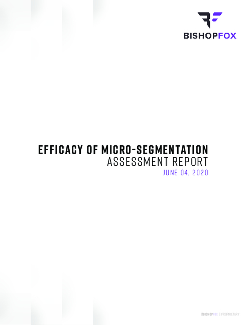 Efficacy of Micro-Segmentation Assessment Report
