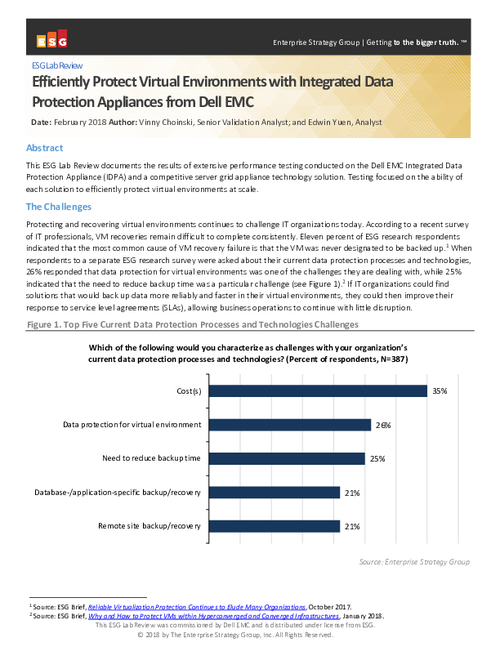 Efficiently Protect Virtual Environments with Integrated Data Protection Appliances from Dell EMC