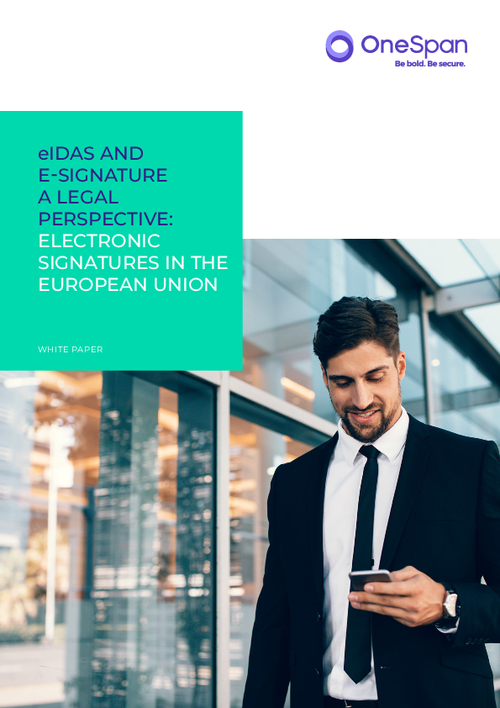 eIDAS and E-Signature: A Legal Perspective