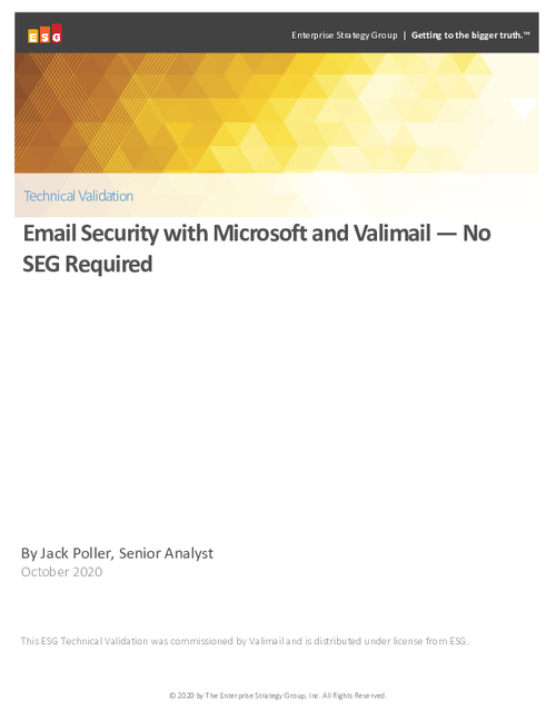 Email Security with Microsoft and Valimail — No SEG Required