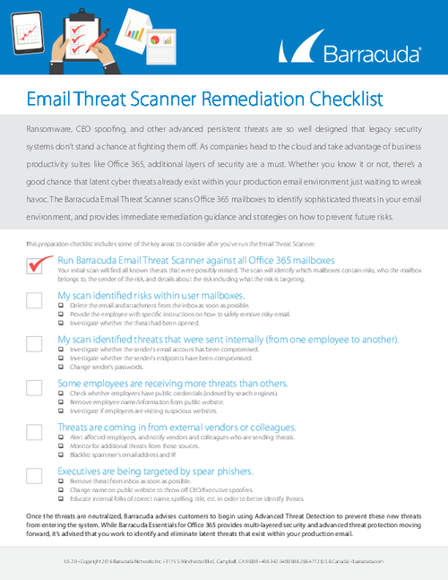 Email Threat Scanner Remediation