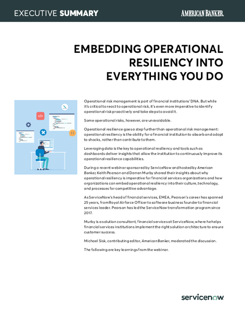 Embedding operational resiliency into everything you do