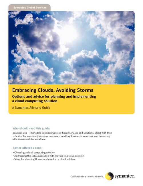 Embracing Clouds, Avoiding Storms