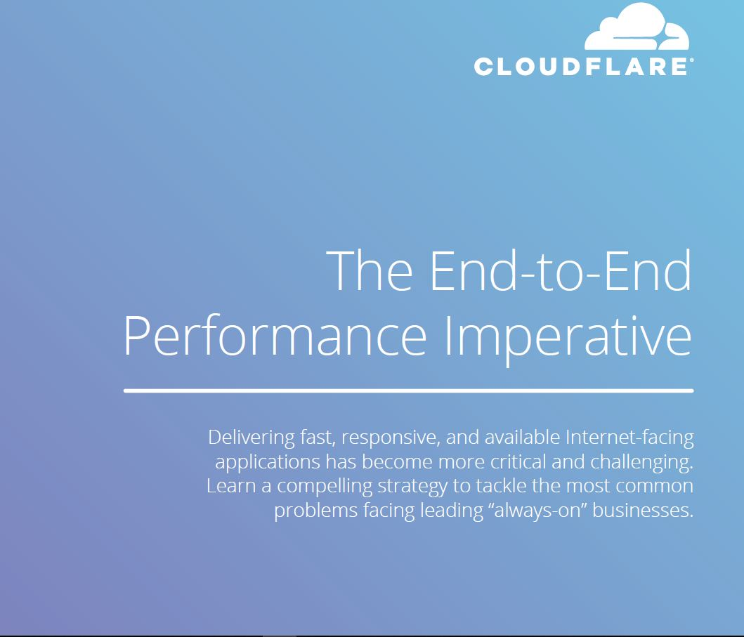 The End-to-End Performance Imperative