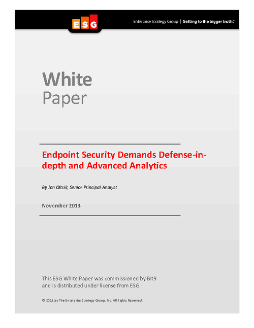 Endpoint Security Demands Defense In-Depth and Advanced Analytics