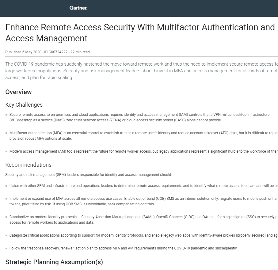 Enhance Remote Access Security With Multifactor Authentication and Access Management