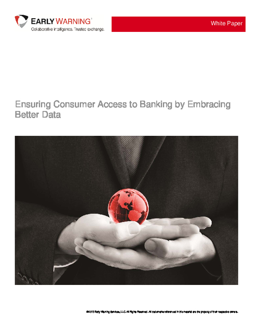 Ensuring Consumer Access to Banking by Embracing Better Data