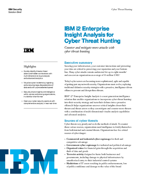 Enterprise Insight Analysis for Cyber Threat Hunting